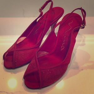 Ladies Red Strap Heels